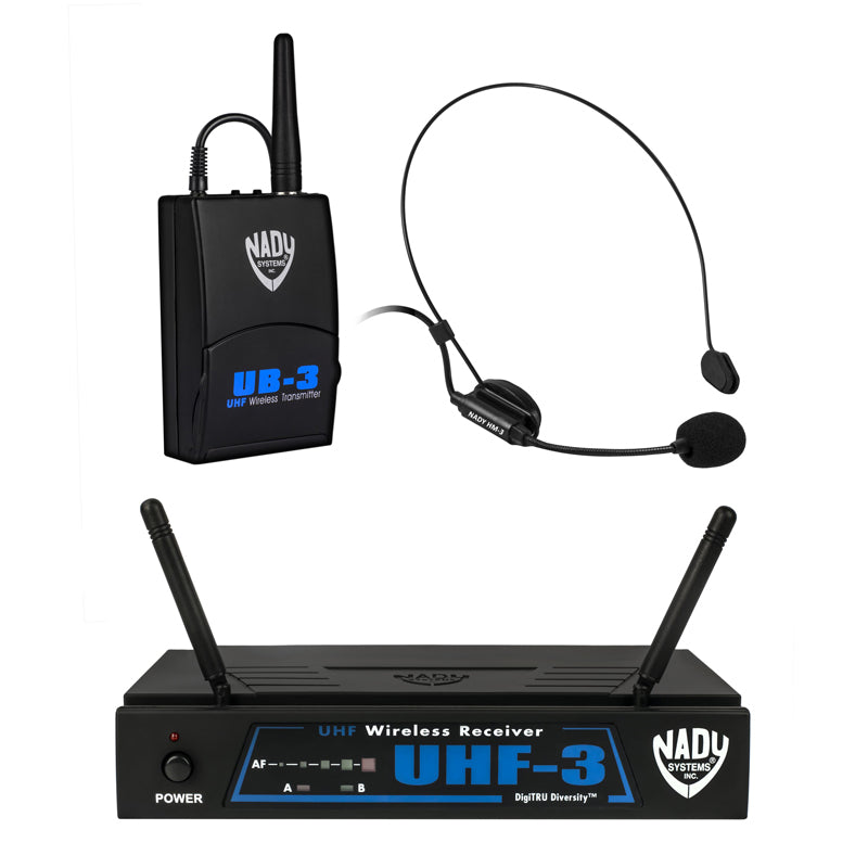 Nady UHF-3 Wireless Headset Microphone System