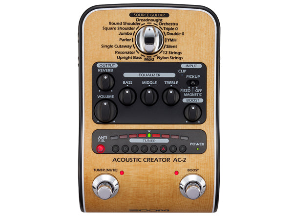 Zoom AC-2 Acoustic Creator Direct Box/Preamp