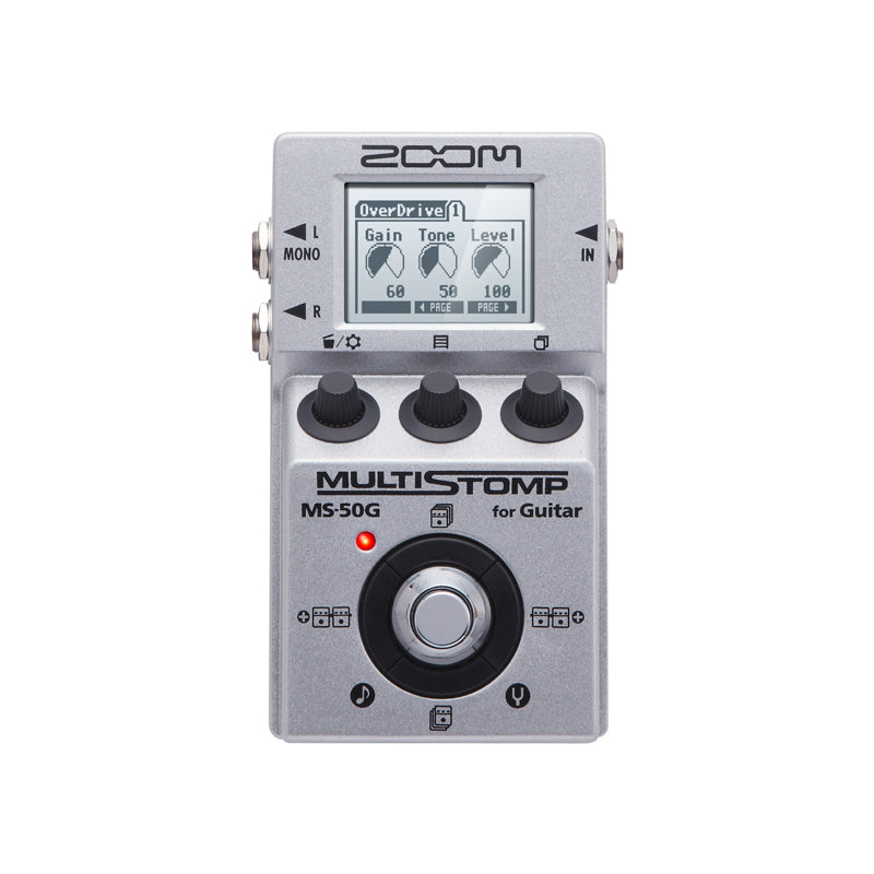 Zoom MS-50G MULTISTOMP Guitar Multi-Effects Amp Simulator Pedal