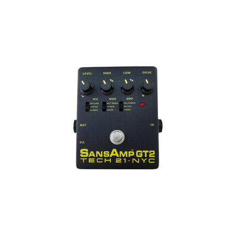 Tech 21 GT2 SansAmp Guitar Amp Simulator Effects Tone Pedal