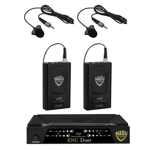 Nady ENC DUET Wireless Dual Channel Lavalier Microphone System