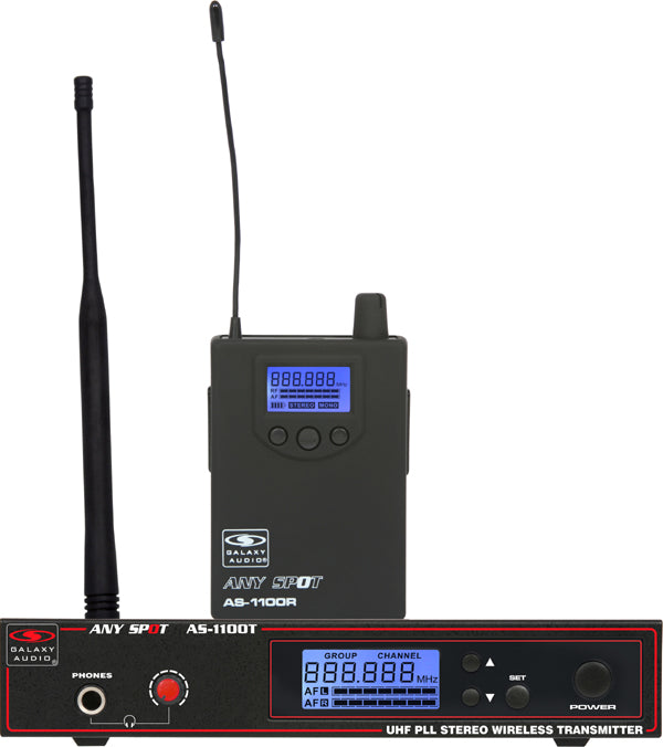 Galaxy Audio AS-1100 Any Spot Wireless In-Ear Monitor System Freq. D 584-607 MHz