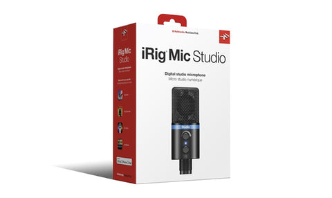 IK Multimedia iRig Mic Studio LCD Black for IOS, MAC, PC and Android Devices