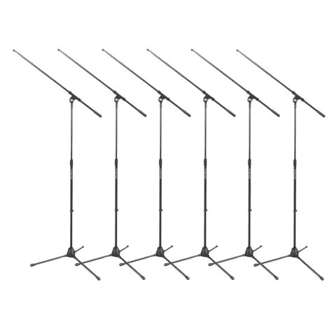 On-Stage MS7701B Microphone Tripod Boom Stands 6-Pack