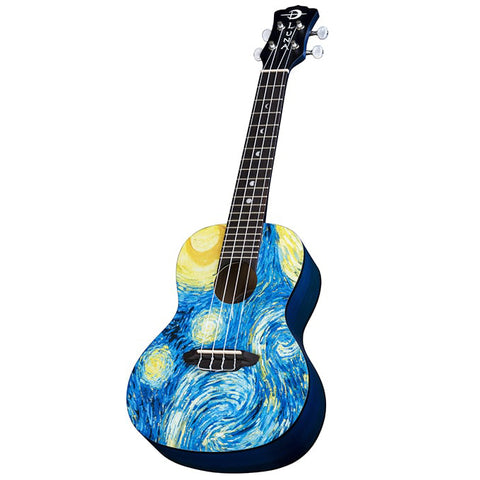 Luna Uke Starry Night Concert Ukulele with Gigbag