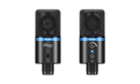 Image of IK Multimedia iRig Mic Studio LCD Black for IOS, MAC, PC and Android Devices