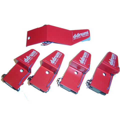 ddrum RSKIT 5-Piece Red Shot Acoustic Drum Trigger Set
