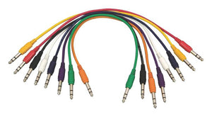 Hot Wires PC18-17TRS-S Straight Patch Cables (TRS-TRS, 8-pack)