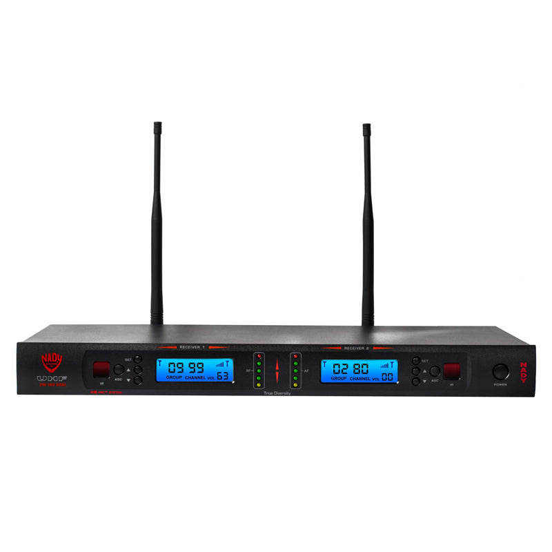 Nady 2W-1KU HT Dual 1000-Channel Professional UHF Wireless System with 2 Handheld Microphones