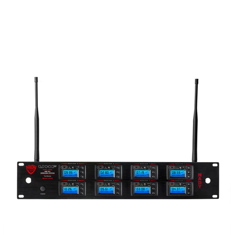 Image of Nady 8W-1KU GT Octo 1000-Channel Professional UHF Wireless Instrument/Guitar System