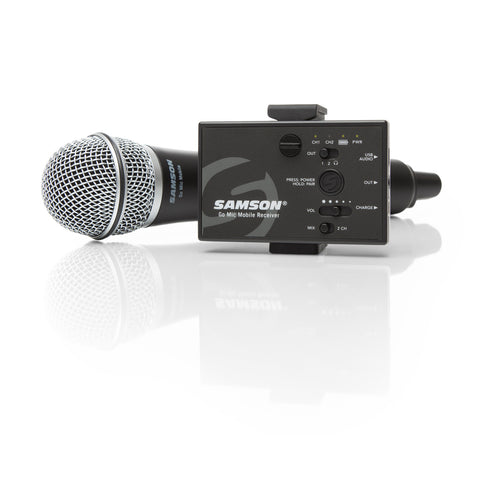 Image of Samson Go Mic Mobile Handheld Wireless Microphone System for Video