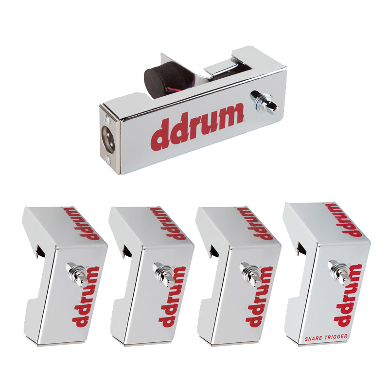 ddrum Chrome Elite 5-Piece Acoustic Triggers Pack - Brand New Product!