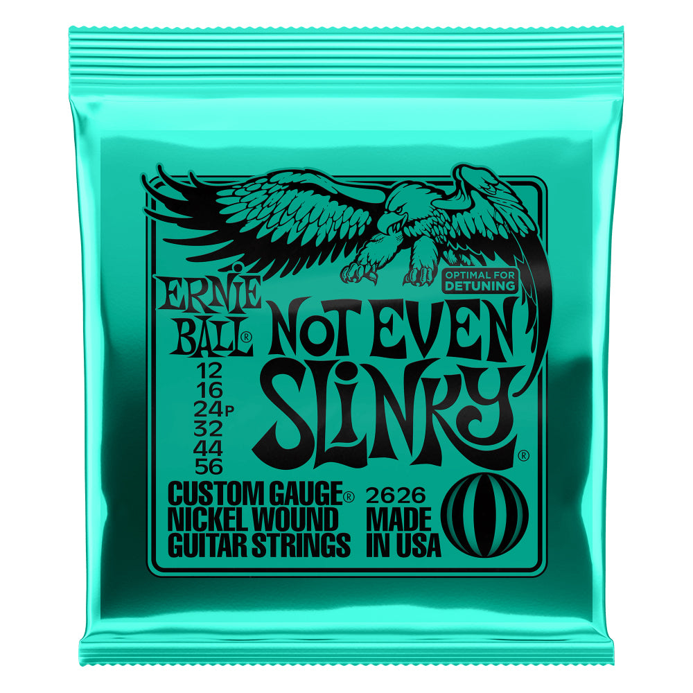 Ernie Ball Not Even Slinky Nickel Wound Electric Guitar Strings 12-56