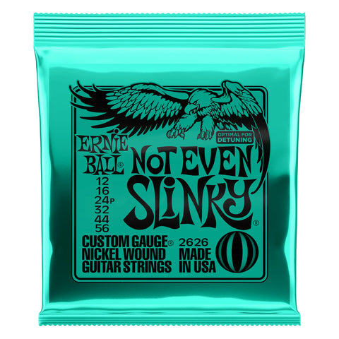 Image of Ernie Ball Not Even Slinky Nickel Wound Electric Guitar Strings 12-56