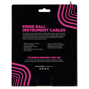 Ernie Ball 30' Coiled Straight-Angle Instrument Cable - White