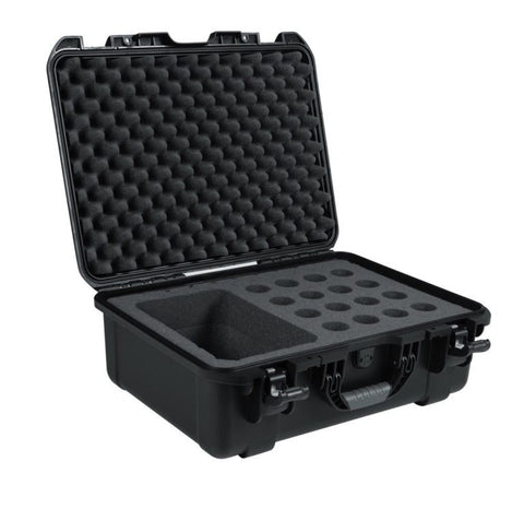 Gator Cases GM-16-MIC-WP Waterproof Case for 16 Handheld Microphones & Accessories