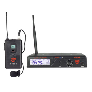 Nady U-1100 LT 100-Channel UHF Wireless Lavalier Microphone System