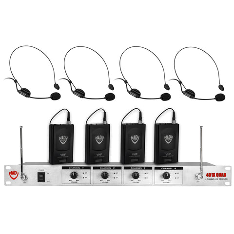 Image of Nady 401X QUAD Wireless 4-Channel Headset Microphone System