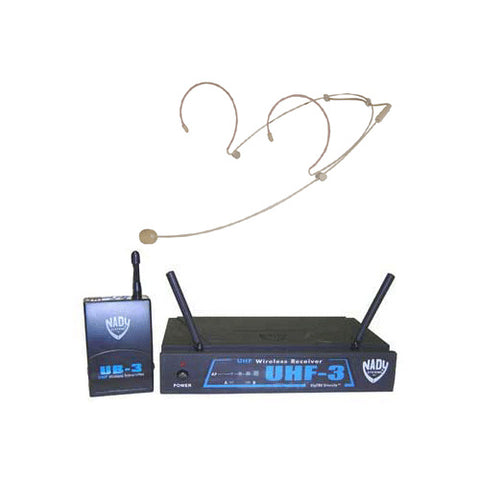Nady UHF Wireless System with HM-10 Beige Headset Microphone