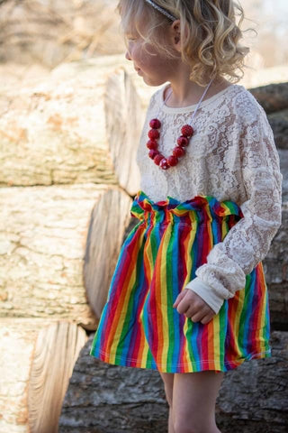 Striped Rainbow Skirt