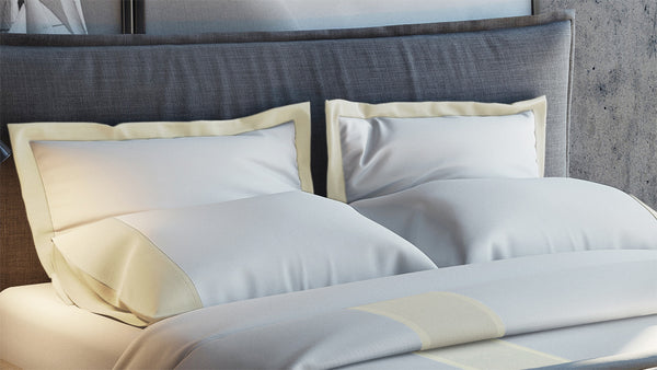 MONTE CARLO Banded Pillowcase Set
