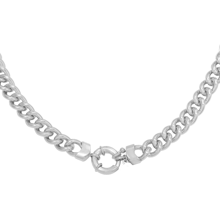 Chunky Huber Chain Kette Silber