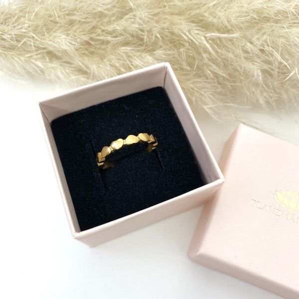 Love Heart Ring Gold