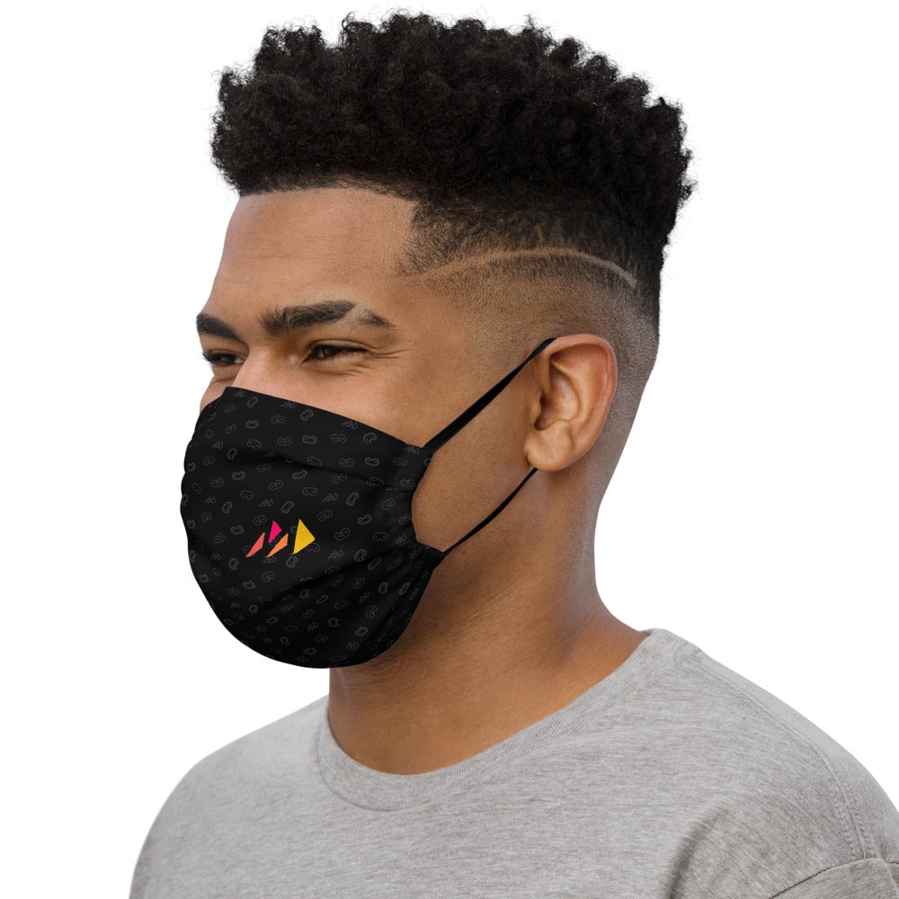 Black Monogram Premium face mask