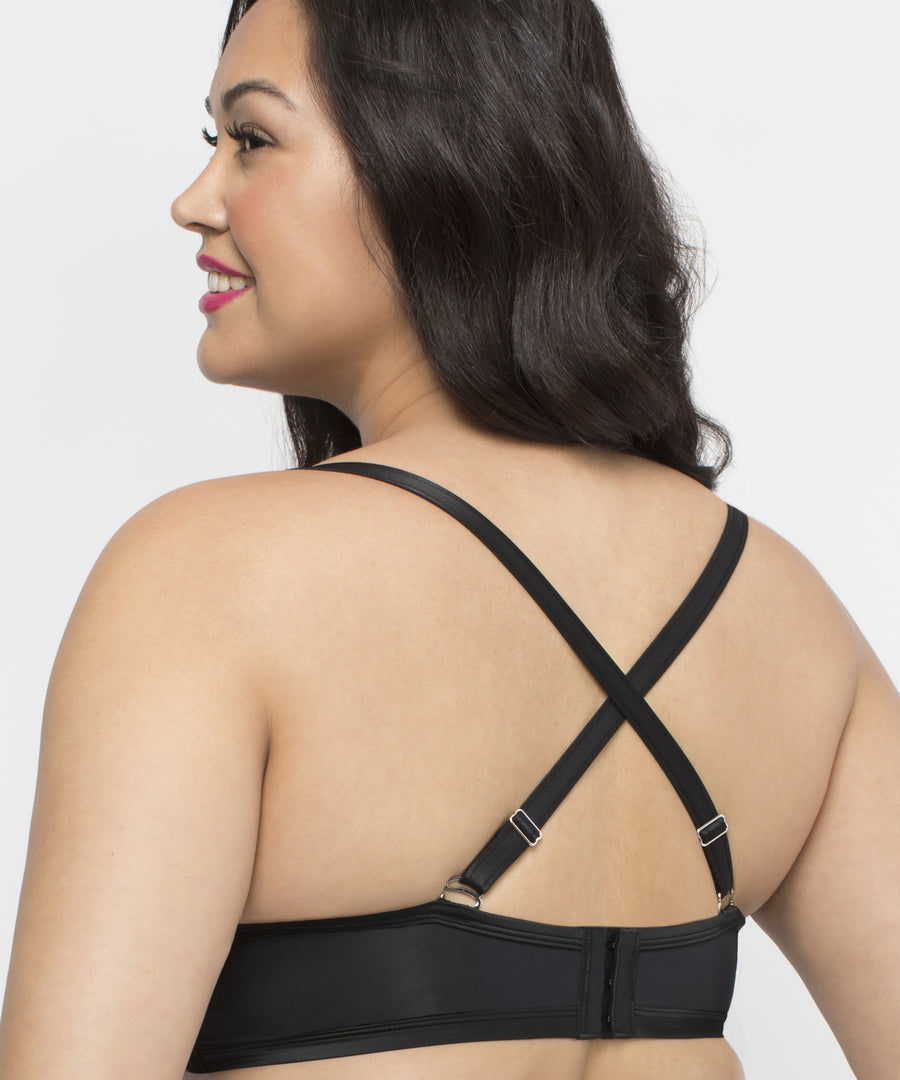 Curvy Couture Tulip Strappy Push Up