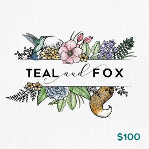Teal & Fox Gift Card $100