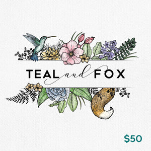 Teal & Fox Gift Card $50