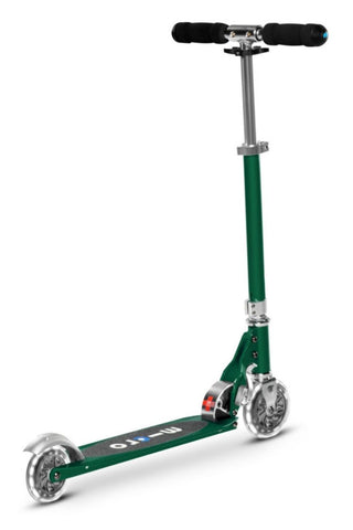 Scooter Micro Sprite LED Verde Bosque