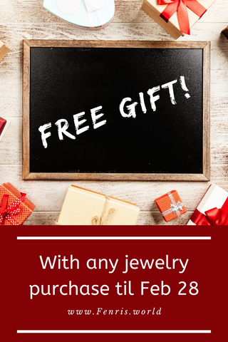 Free gift with purchase of jewelry