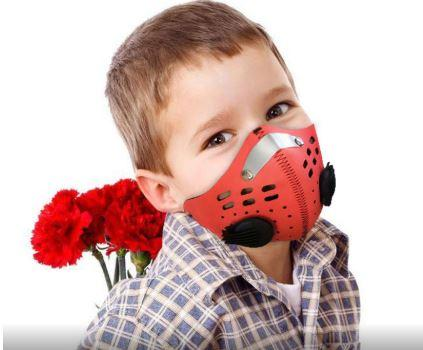 kids asthma mask adjustable allergy forest fire smoke pollution PM2.5 cold weather