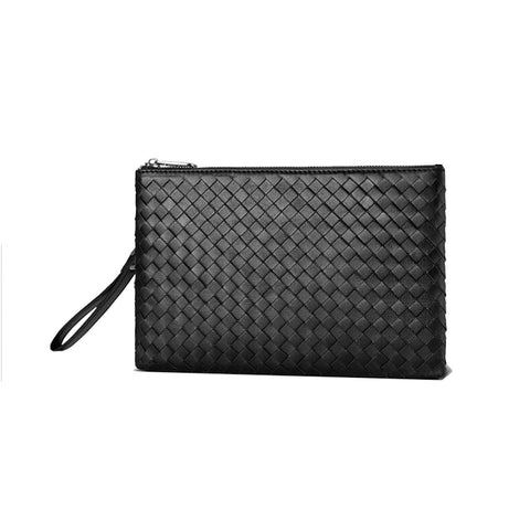 black leather clutch bag tech wallet mens small