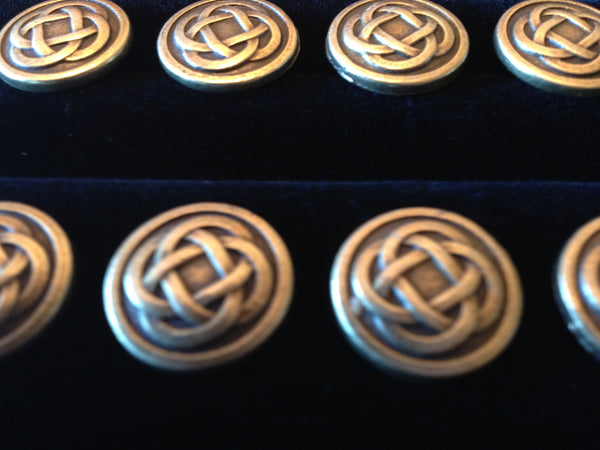 bronze knotwork buttons celtic viking irish