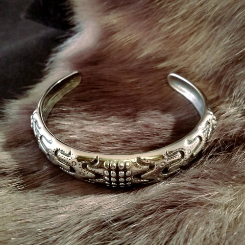 silver bracelet mens danish design viking
