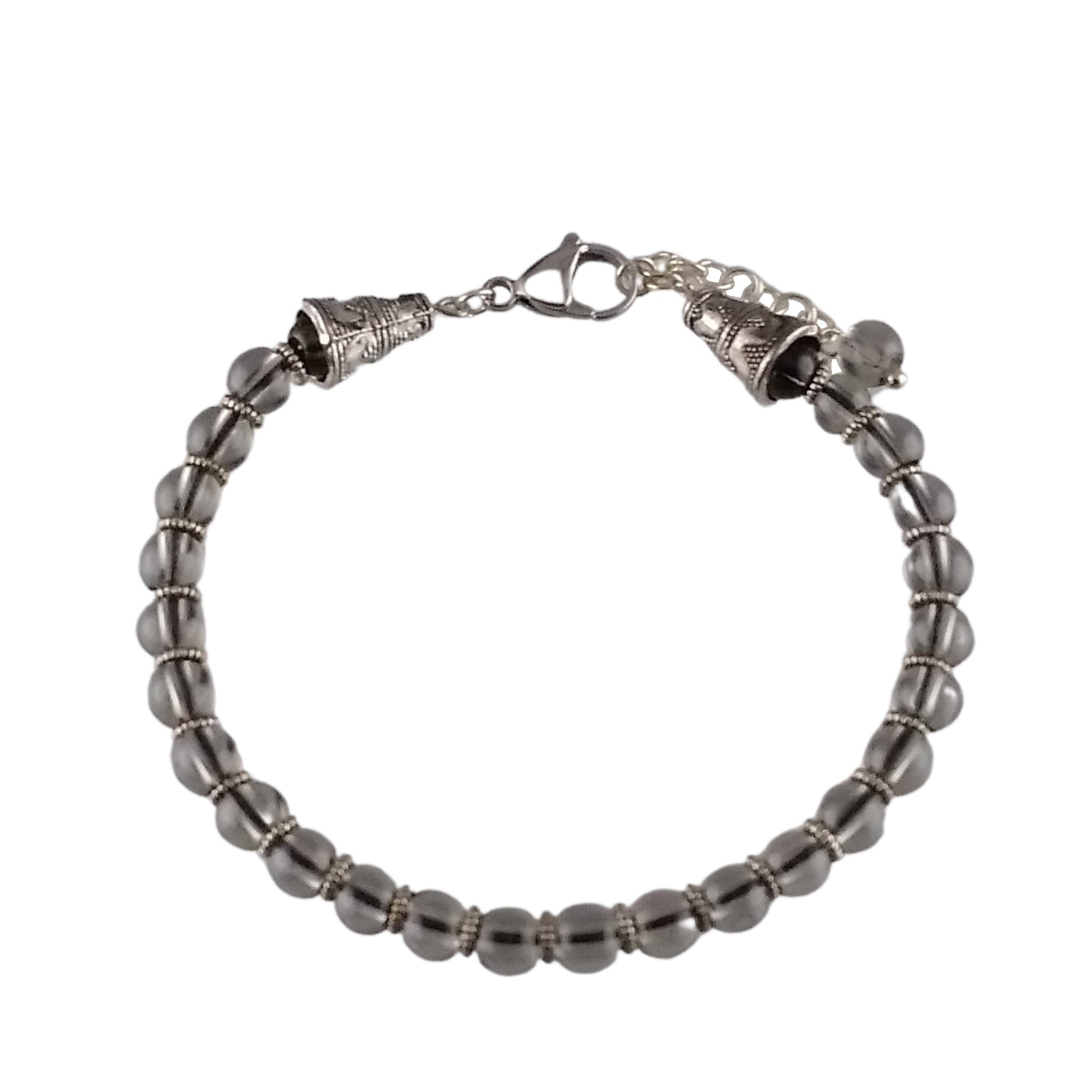 ice obsidian bracelet gemstone silver gray womens
