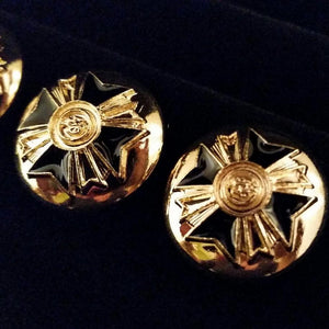 buttons gold black enamel cross designer paris jacket blazer cosplay costume fashion baroque