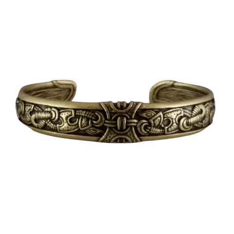 bronze knotwork bracelet viking celtic norse men