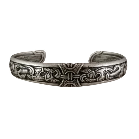 silver knotwork bracelet viking celtic norse men