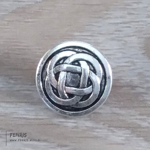 metal button silver celtic knot work viking irish coat