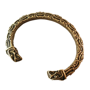 raven bracelet bronze knotwork tribal nature viking