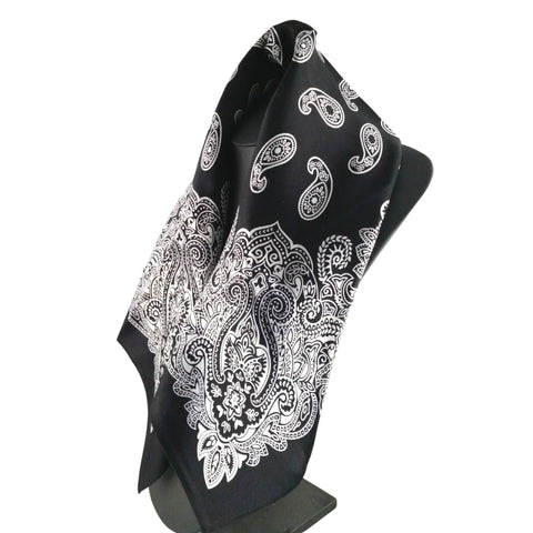 Fenris black silk bandana scarf mens womens