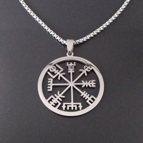 viking helm of awe necklace silver norse larp