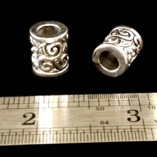 Celtic Triskelion Beard Braid Beads Silver Viking LARP