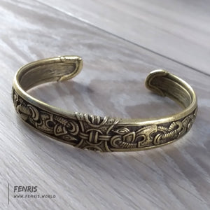 bracelet bronze knot work celtic viking norse mens womens