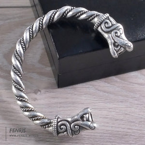 bracelet silver dragon mens viking celtic norse larp