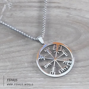 helm of awe necklace silver norse viking icelandic mens womens