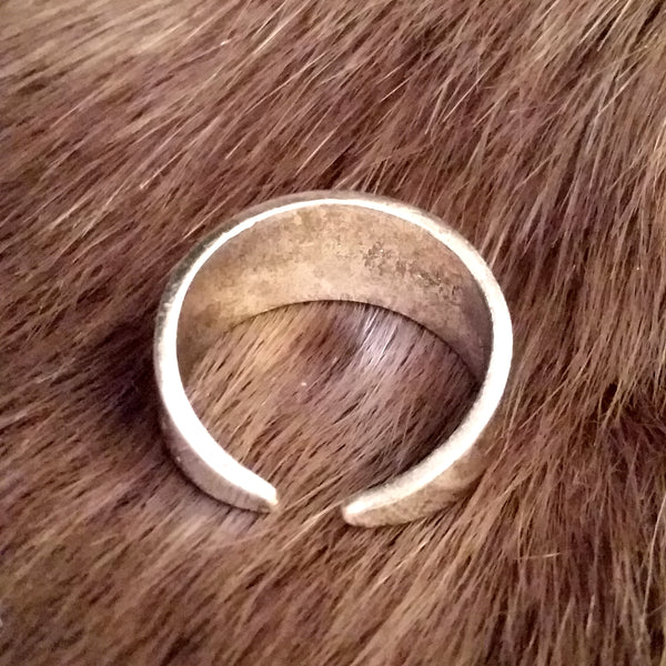 silver ring triangle LARP Viking Rock